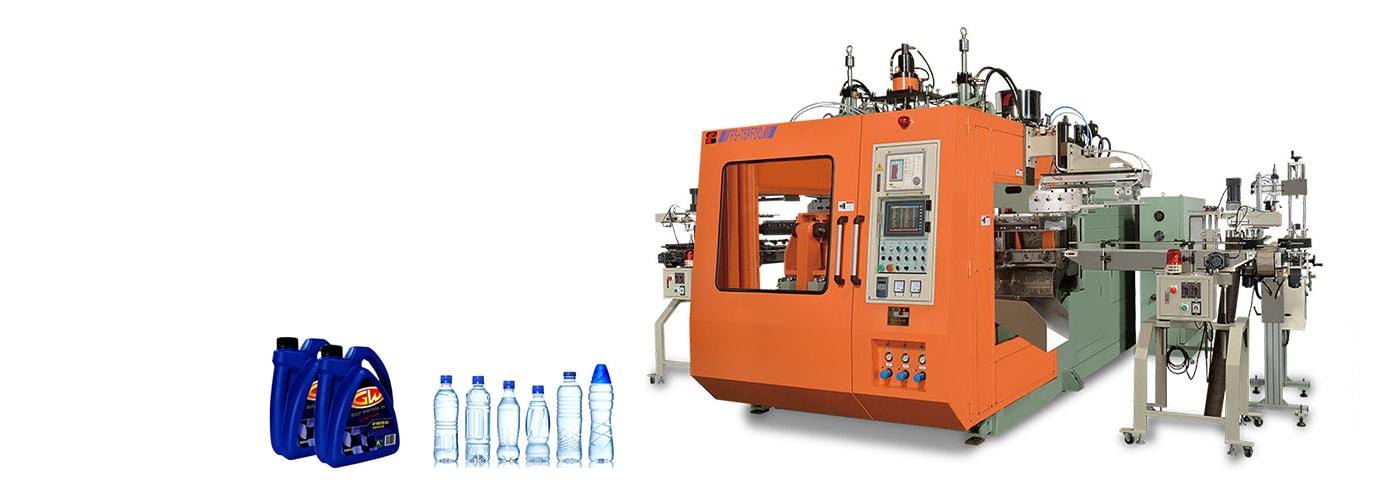 Imagen de maquina sopladora de plástico